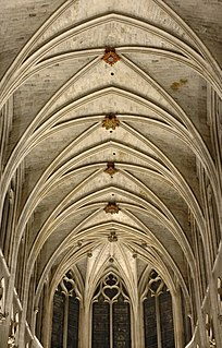 Vault (architecture) architectural term for an arched form used to provide a space with a ceiling or roof