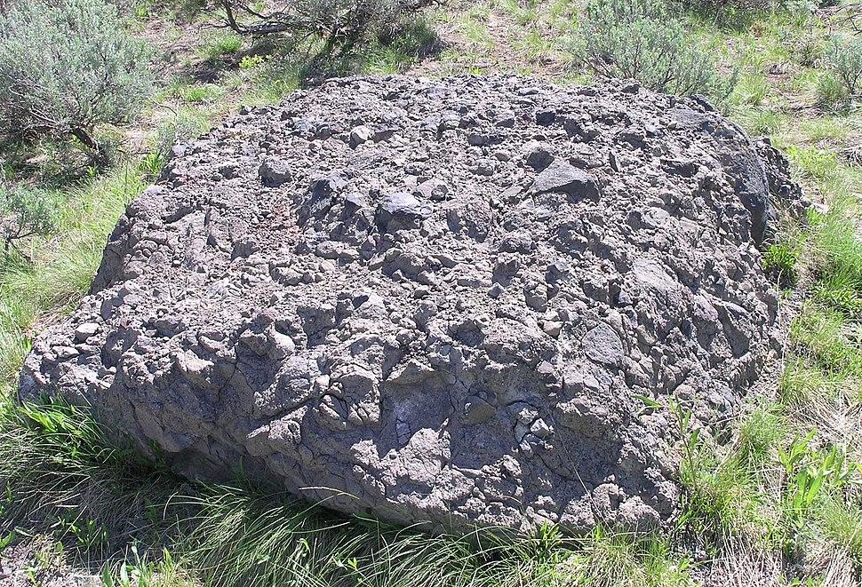 Volcanic breccia in Jackson Hole
