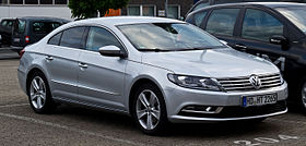 Volkswagen CC 2.0 TDI BlueMotion Technology (Facelift) – Frontansicht, 24. Juni 2012, Ratingen.jpg