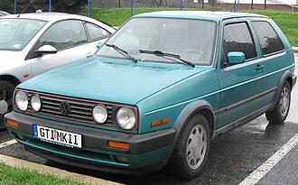 Volkswagen Golf Mk2 - 1990-1992 Volkswagen GTI 3-door (US)