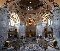 The interior of the Washington State Capitol B...