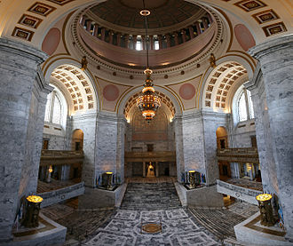 Washington State Capitol - Interior of the Legislative Building.