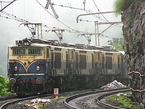 A WCG2 triplet escorts the Intercity up the ghats.