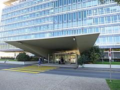 WHO HQ main entrance, Geneva