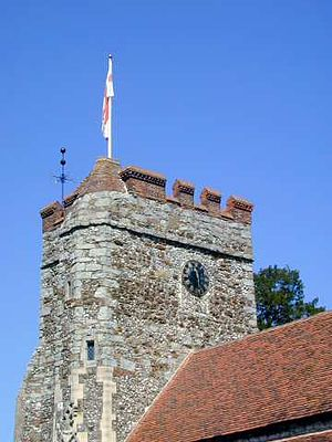Waltham St Lawrence - Image: WSL Church Tower Weathervane