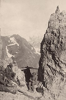 Alpini and Mountain Artillery formations in World War I