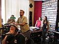 WWOZ Drive Studio Listening.JPG