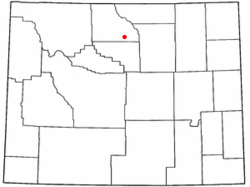 Location of Hyattville, Wyoming