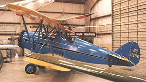 Waco F series - Waco RNF of 1931 displayed at the Pima Air Museum Tucson Arizona in 1991