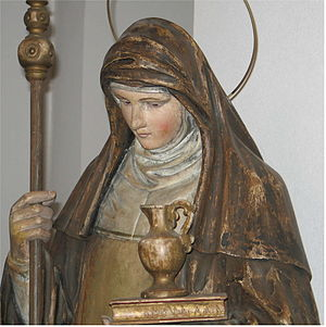 Saint Walpurga - Statue in Contern church.