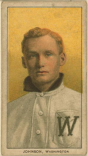 Kansas Sports Hall of Fame - Walter Johnson, one of Kansas' most famous athletes.