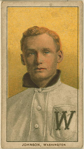 Kansas Sports Hall of Fame - Walter Johnson, one of Kansas' most famous athletes.