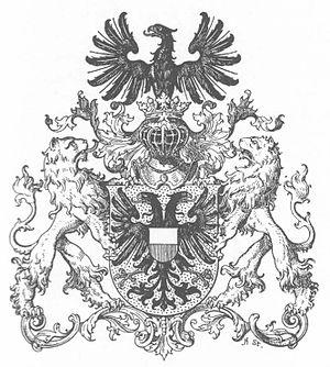 Coat of arms of Lübeck - Image: Wappen Deutsches Reich Freie und Hansestadt Lübeck (Grosses)