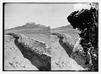 War views of Neby Samuel (Mizpah). Neby Samuel from the British trenches LOC matpc.11444.jpg