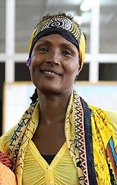 Waris Dirie, during her visit to Sierra Leone (West Africa) in December 2018.