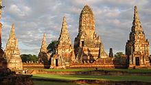 Tailandia: ruinas del templo Watchaiwatthanaram