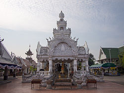 The city pillar of Nan at Wat Ming Mueang