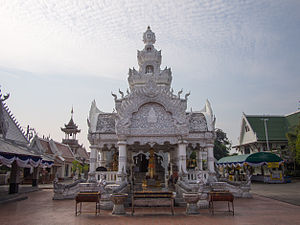 Nan, Thailand - The city pillar of Nan at Wat Ming Mueang