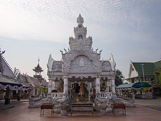 Nan, Thailand - City pillar shrine, Nan, Wat Ming Mueang