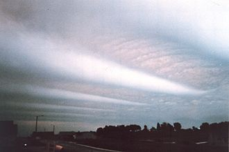 Gravity wave - Wave clouds over Theresa, Wisconsin, United States.
