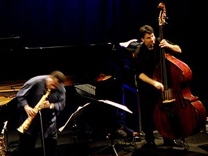 John Patitucci - John Patitucci and Wayne Shorter with the Wayne Shorter Quartet at the Teatro degli Arcimboldi, Milan, Italy, 2010