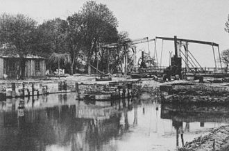 Eider Canal - The canal's most easterly lock at Kiel-Holtenau in 1894