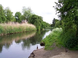 Niers River in Germany and the Netherlands