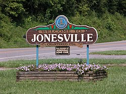 Jonesville welcome sign