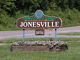 Welcome to Jonesville sign (3619513509).jpg