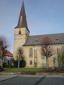 Protestant St. Jacobi Church in town centre of Werther (Westf.)