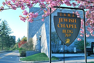 West Point Jewish Chapel - Image: West Point Jewish Chapel Sign