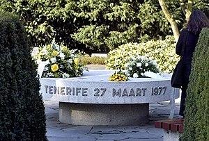 Tenerife airport disaster - Monument in Westgaarde Cemetery, Amsterdam