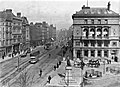 Westmoreland Street (looking to O'Connell Bridge, including a tram), Dublin City, Co. Dublin (31954425144).jpg