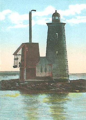 Kittery, Maine - Whaleback Light c. 1920