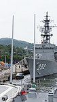 Whip antenna's on stern of of JS Fuyuzuki(DD-118) left front view at JMSDF Maizuru Naval Base July 29, 2017.jpg