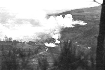 White Phosphorous Bombardment of German emplac...