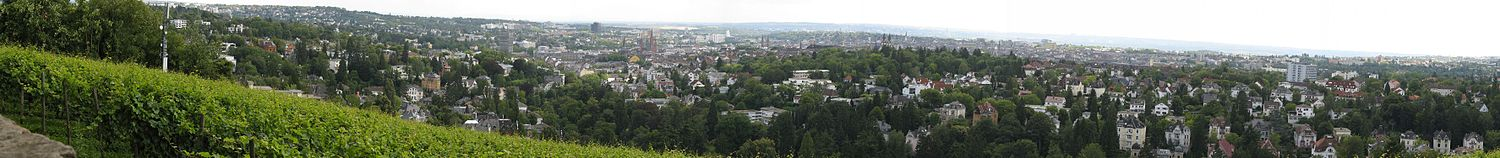 Panorama of Wiesbaden as seen from the Neroberg