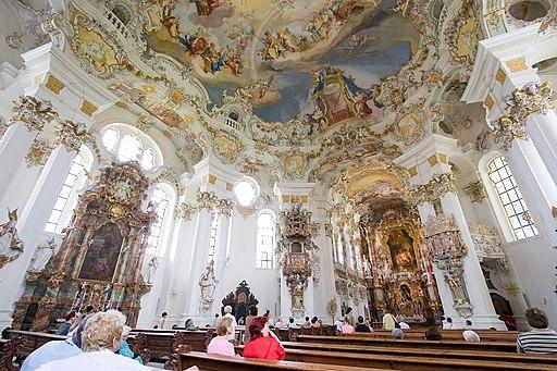 Wieskirche rococo interior