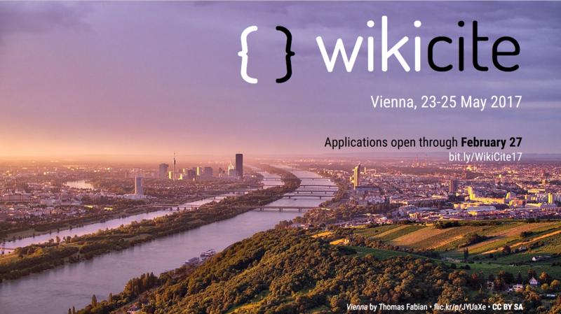 WikiCite 2017 Vienna banner