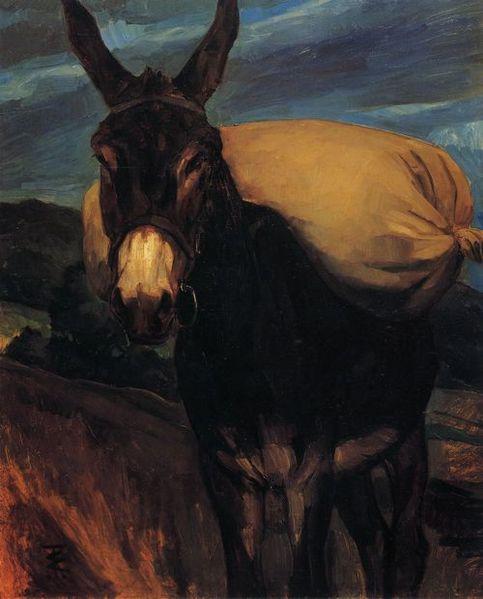 File:Wilhelm Trübner Esel mit Mehlsack.jpg