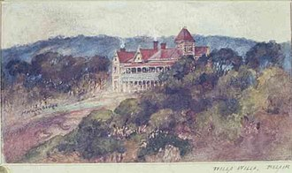 Birralee, Belair - A painting of Willa Willa ca.1900