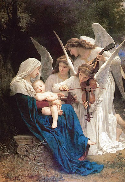 File:William-Adolphe Bouguereau (1825-1905) - Song of the Angels (1881).jpg