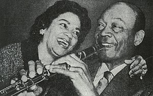 Edmond Hall - Hall with his wife, Winnie, 1965