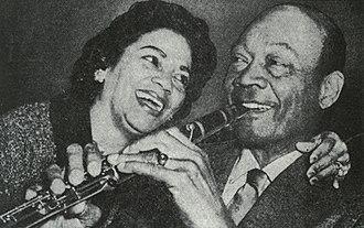 Edmond Hall - Hall with his wife, Winnie, 1965