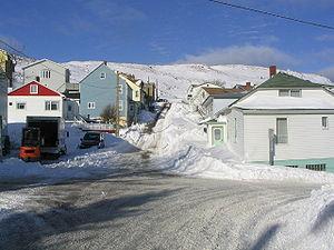 Saint-Pierre, Saint Pierre and Miquelon - Saint-Pierre under snow.
