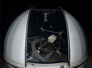 Wise Observatory - The smaller 46cm Telescope in its dome