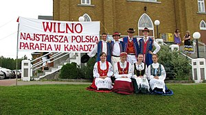 Kashubians - Polish-Canadians wearing traditional Kashubian costumes in Wilno, Ontario, the oldest Polish settlement in Canada.
