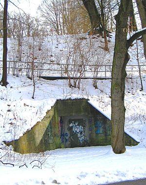 Bombing of Augsburg in World War II - Bomb shelter in Wittelsbacherpark