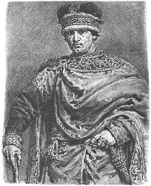 History of Silesia - Władysław II the Exile. First of the Silesian Piasts. Drawing by Jan Matejko.