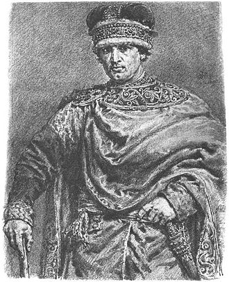 Silesian Piasts - Władysław the Exile, 19th century drawing by Jan Matejko